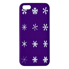 Purple Flower Floral Star White Iphone 5s/ Se Premium Hardshell Case by Mariart