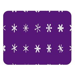 Purple Flower Floral Star White Double Sided Flano Blanket (large)  by Mariart
