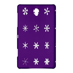 Purple Flower Floral Star White Samsung Galaxy Tab S (8 4 ) Hardshell Case  by Mariart