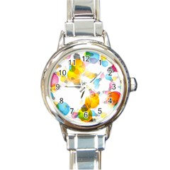 Lamp Color Rainbow Light Round Italian Charm Watch by Mariart