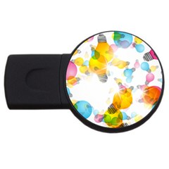 Lamp Color Rainbow Light Usb Flash Drive Round (4 Gb) by Mariart