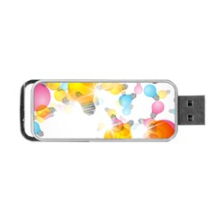 Lamp Color Rainbow Light Portable Usb Flash (one Side) by Mariart