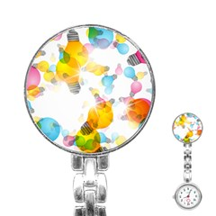 Lamp Color Rainbow Light Stainless Steel Nurses Watch by Mariart
