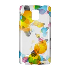Lamp Color Rainbow Light Samsung Galaxy Note 4 Hardshell Case by Mariart