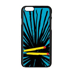 Match Cover Matches Apple Iphone 6/6s Black Enamel Case by Mariart