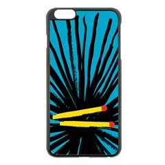 Match Cover Matches Apple Iphone 6 Plus/6s Plus Black Enamel Case by Mariart