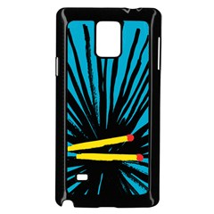 Match Cover Matches Samsung Galaxy Note 4 Case (black) by Mariart