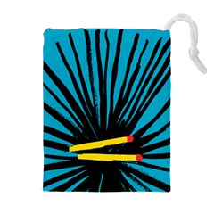 Match Cover Matches Drawstring Pouches (extra Large) by Mariart