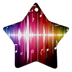 Music Data Science Line Ornament (star) by Mariart