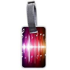 Music Data Science Line Luggage Tags (one Side)  by Mariart