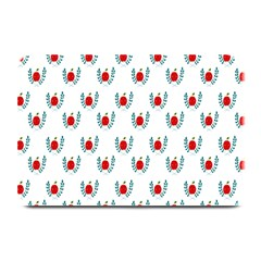Sage Apple Wrap Smile Face Fruit Plate Mats by Mariart
