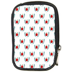 Sage Apple Wrap Smile Face Fruit Compact Camera Cases by Mariart