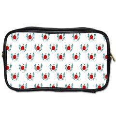 Sage Apple Wrap Smile Face Fruit Toiletries Bags 2 Side by Mariart