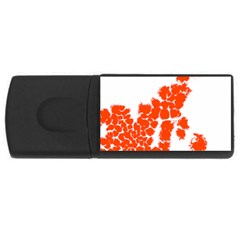 Red Spot Paint Usb Flash Drive Rectangular (4 Gb) by Mariart