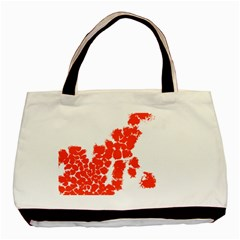 Red Spot Paint Basic Tote Bag by Mariart