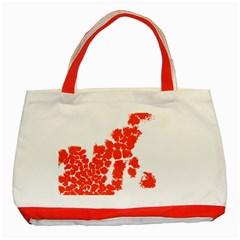 Red Spot Paint Classic Tote Bag (red) by Mariart