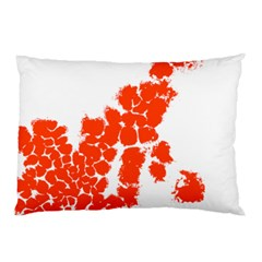 Red Spot Paint Pillow Case by Mariart