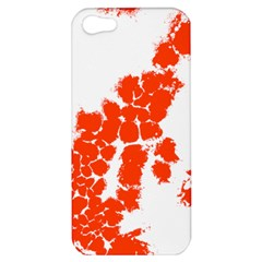 Red Spot Paint Apple Iphone 5 Hardshell Case by Mariart