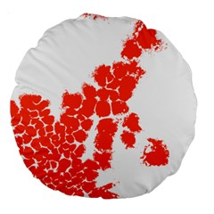 Red Spot Paint Large 18  Premium Round Cushions by Mariart