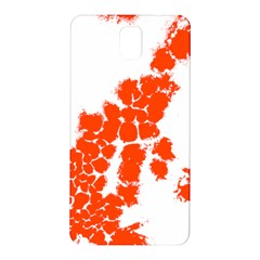 Red Spot Paint Samsung Galaxy Note 3 N9005 Hardshell Back Case by Mariart