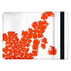 Red Spot Paint Samsung Galaxy Tab Pro 12 2  Flip Case by Mariart