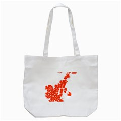Red Spot Paint Tote Bag (white) by Mariart