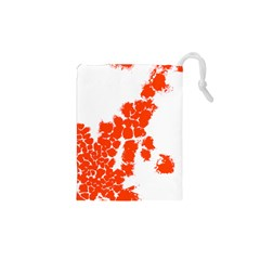 Red Spot Paint Drawstring Pouches (xs)  by Mariart