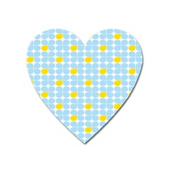 Retro Stig Lindberg Vintage Posters Yellow Blue Heart Magnet by Mariart