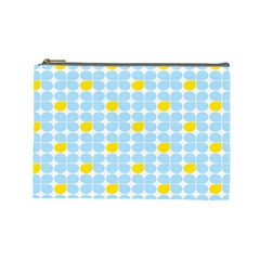 Retro Stig Lindberg Vintage Posters Yellow Blue Cosmetic Bag (large)  by Mariart
