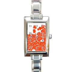 Red Spot Paint White Polka Rectangle Italian Charm Watch by Mariart