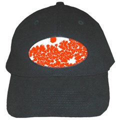 Red Spot Paint White Polka Black Cap by Mariart