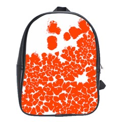 Red Spot Paint White Polka School Bags(large)  by Mariart