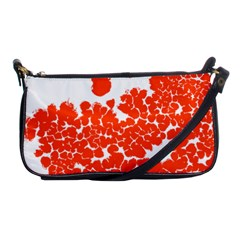 Red Spot Paint White Polka Shoulder Clutch Bags by Mariart