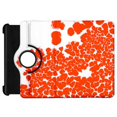 Red Spot Paint White Polka Kindle Fire Hd 7  by Mariart