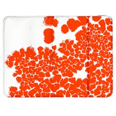 Red Spot Paint White Polka Samsung Galaxy Tab 7  P1000 Flip Case by Mariart