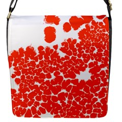 Red Spot Paint White Polka Flap Messenger Bag (s) by Mariart