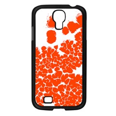 Red Spot Paint White Polka Samsung Galaxy S4 I9500/ I9505 Case (black) by Mariart