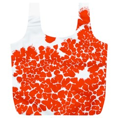 Red Spot Paint White Polka Full Print Recycle Bags (l)  by Mariart