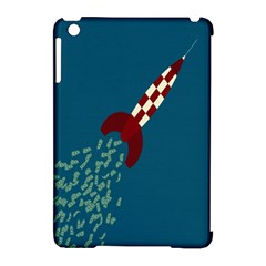 Rocket Ship Space Blue Sky Red White Fly Apple Ipad Mini Hardshell Case (compatible With Smart Cover) by Mariart