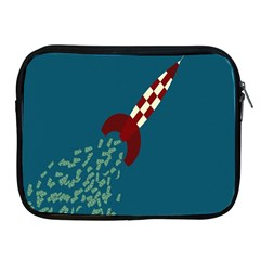 Rocket Ship Space Blue Sky Red White Fly Apple Ipad 2/3/4 Zipper Cases by Mariart
