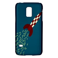 Rocket Ship Space Blue Sky Red White Fly Galaxy S5 Mini by Mariart