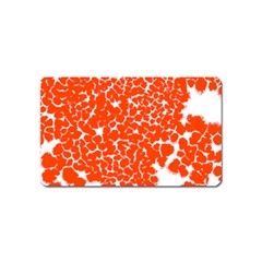 Red Spot Paint White Magnet (name Card) by Mariart