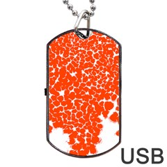 Red Spot Paint White Dog Tag Usb Flash (two Sides) by Mariart