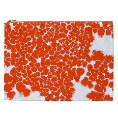 Red Spot Paint White Cosmetic Bag (xxl)  by Mariart