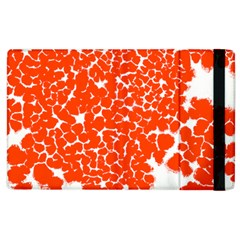 Red Spot Paint White Apple Ipad 2 Flip Case by Mariart