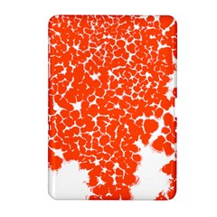 Red Spot Paint White Samsung Galaxy Tab 2 (10 1 ) P5100 Hardshell Case  by Mariart