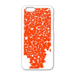 Red Spot Paint White Apple Iphone 6/6s White Enamel Case by Mariart