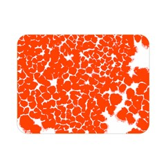 Red Spot Paint White Double Sided Flano Blanket (mini)