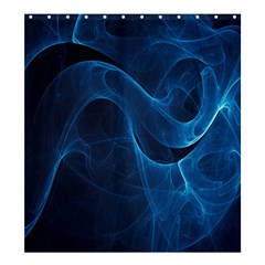 Smoke White Blue Shower Curtain 66  X 72  (large)  by Mariart