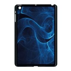 Smoke White Blue Apple Ipad Mini Case (black) by Mariart